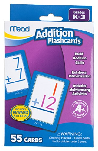 Mead Addition Flashcards, 55 Cards, Grades K-3 (63034)
