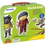 Miniland World Kids Sewing Kit - 3 Sewing Patterns, 3 Costumes, 6 Needles, 63 Laces