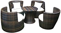 Deeco DM-GV-503 Art-Deck-Oh Geo Vase Interlocking All Weather Wicker Furniture Set from Deeco Consumer Products, LLC.