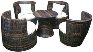 Deeco DM-GV-503 Geo-Vase interlocking all weather wicker furniture set by Deeco