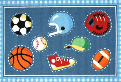 3X5 All Sports Rug Baseball Basketball Soccer Football America Size 39