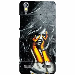 Lenovo A6000 - Two Hands Matte Finish Phone Cover