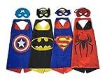 Superhero Dress Up Costumes - 4 Satin...