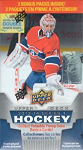 2013 2014 Upper Deck NHL Hockey Series One Unopened Blaster Box of 12 Packs