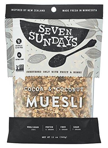 Seven Sundays Muesli - Cocoa and Coconut- Non-GMO Certified, Gluten Free, Hot or Cold Breakfast Muesli {12 oz. pouches, 1 Count} (Gluten Free Muesli compare prices)