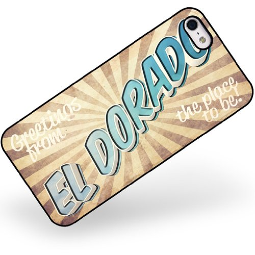Rubber Case For Iphone 5 5S Greetings From El Dorado, Vintage Postcard - Neonblond