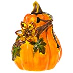Pumpkin w/ Acrylic Jeweled Sunflower Accent