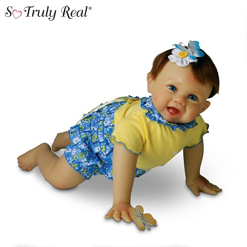 "Bonnie Chyle ""Sooo Big Butterfly"" So Truly Real 22-Inch Realistic Lifelike Baby Doll by Ashton Drake"