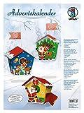 Ursus 17820004 - Adventskalender Weihnachtsmann, Bastelset für 24 Geschenkboxen, bunt
