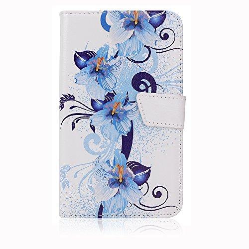 """Weiss mit blau Schmetterling Schutz-hülle Tasche Case Cover für 4,0"""" - 4,5"""" Zoll Handy Smart Phone, kompatibel mit Samsung Galaxy S4 I9505, Samsung GALAXY S3 i9300, Samsung Galaxy G3500, NOKIA LUMIA 625, Nokia Lumia 720, Nokia Lumia Icon, SONY ERICSSON XPERIA T LT30P, LG OPTIMUS TRUE HD LTE P936, LG E975 Optimus G, LG PRADA PHONE P940, HTC Evo 3d Smartphone, ARCHOS 45 Helium 4G, ARCHOS 45 Titanium, CUBOT GT72 Smartphone, CUBOT ONE 4.7"""" IPS 720P HD 3G Smartphone, ZTE Blade G (11,4 cm) 4,5 Zoll"""