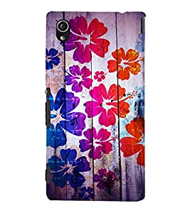 printtech Floral Pattern Wooden Back Case Cover for Sony Xperia M4 Aqua::Sony Xperia M4 Aqua Dual
