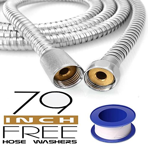 Toogou Stainless Steel Handheld Shower Hose (6.5 Ft) (78.7 Inches) (2 Meters)