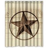 "Creative Bath Western Texas Star Shower Curtains (60"" x 72"" )"