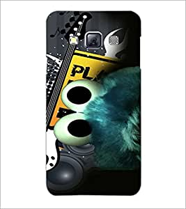 PrintDhaba Abstract Image D-4619 Back Case Cover for SAMSUNG GALAXY A3 (Multi-Coloured)