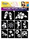 Hibiscus Luau Glitter Tattoo Stencil…