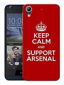 """Humor Gang Keep Calm And Support Soccer Club Printed Designer Mobile Back Cover For """"HTC DESIRE 728"""" (3D, Matte, Premium Quality Snap On Case)"""