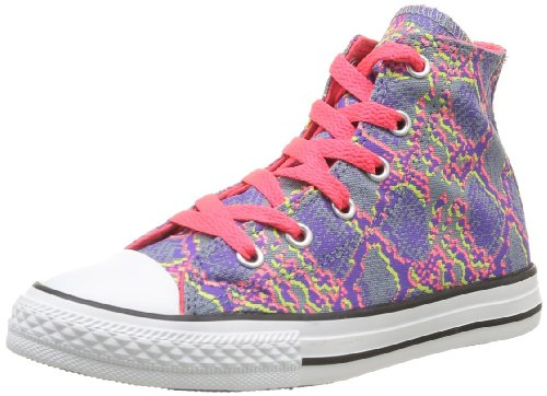 CONVERSE Unisex-Child Chuck Taylor All Star Animal Print Trainers 366821-34-14 Violet/Rose 2 UK, 34 EU