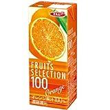 エルビー フルーツセレクション オレンジ100% 200ml×24本