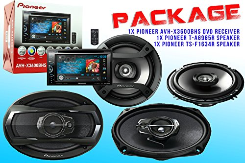 Package ! Pioneer Avh-X3600Bhs Dvd Receiver + Pioneer Ts-A6965R Car Speaker + Pioneer Ts-F1634R Car Speakers