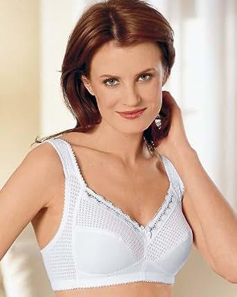 Miss Mary of Sweden Diamond Fabric Bra, White, 36B