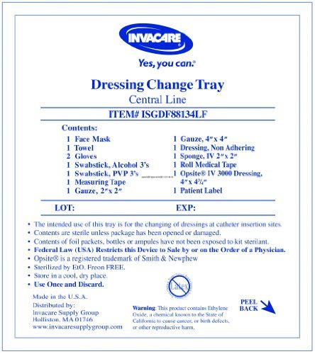 Special 1 Pack of 5 - Central Line Dressing Change Kit with Opsite ISGDF88134LF Invacare Supply Group (Central Line Dressing Kit compare prices)