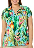 Caribbean Joe Plus Birds Of Paradise Polo Shirt