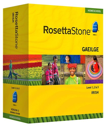 Rosetta Stone Homeschool Irish Level 1-3 Set including Audio Companion