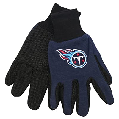 NFL Team Logo Grip Gloves - Tennessee Titans
