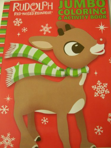 Rudolph The Red-Nosed Reindeer Coloring & Activity Book ~ Rudolph on Red - 1