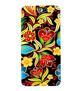 Floral Painting Art 3D Hard Polycarbonate Designer Back Case Cover for HTC One A9