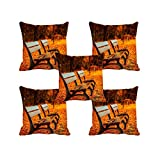 meSleep Autumn Chairs 3D Cushion Cover - (16x16) Set of 5