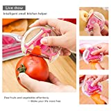 Fruits and Vegetable Rotary Peeler Stainless Steel Peelers Slicer Cutter Chopper Cooking Tools Kitchen Accessories 3 in 1 Pack of 1 (Color May Vary)