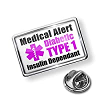 Pin Medical Alert Purple Diabetic Insulin Dependant TYPE 1 - Lapel Badge - NEONBLOND by NEONBLOND