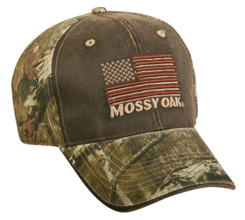 Mossy Oak Break Up Infinity American Flag Washed Cap