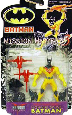 Batman Mission Masters 3 Highwire Zipline Batman Figure - 1