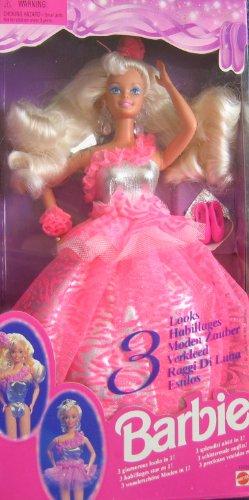 Barbie 3 Looks 1995 #12339 Doll - 1
