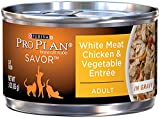 Purina Pro Plan Wet Cat Food, Savor, Adult White Meat Chicken and Vegetable Entrée, 3-Ounce Can, Pack of  24