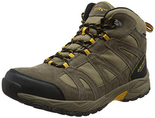 Hi-Tec Alto Ii Mid Waterproof - Scarpe da Arrampicata Alta Uomo, Marrone (Smokey Brown/Taupe/Gold 043), 43 EU
