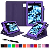 roocase Kindle Fire HD 7 2014 Case, new Kindle Fire HD 7 Dual View Folio Case with Sleep / Wake Smart Cover with Multi-Viewing Stand for All-New 2014 Fire HD 7 Tablet (4th Generation), Purple