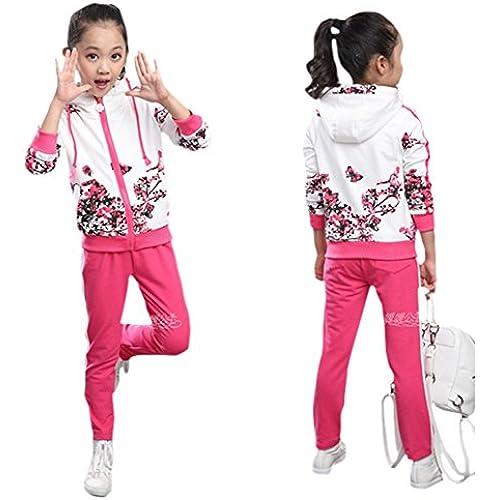 ( 우이  커브 아 ) u'i Kapua 후드 부착 꽃무늬 톱스 & 라인 팬츠 상하 저지 셋업 소녀 아동복-