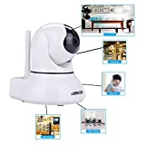 Keekoon H.264 HD P2P Wireless IP Camera Wifi Baby Monitor IR Network Cam Pan/Tilt Support 30 ft Night Vision, Two Way Audio, Motion detection, IOS/Android (KK002 White)