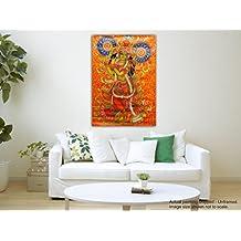 JunkYard Canvas Painting - Jai Sri Krishna - Kerala Mural Art