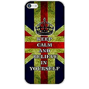 Skin4gadgets Keep Calm and BELIEVE IN YOURSELF - UK Flag Phone Skin for APPLE IPHONE 5C