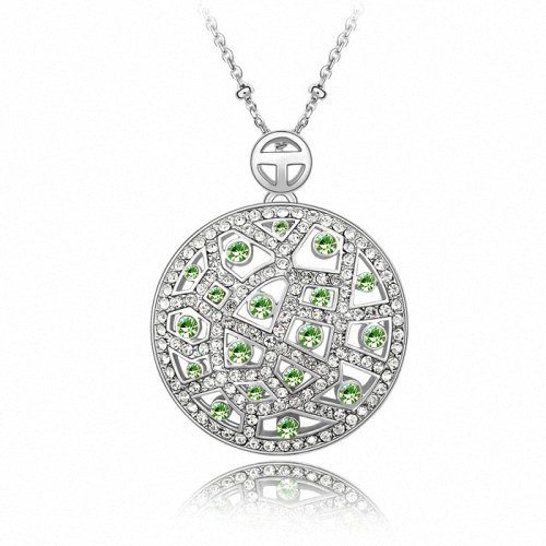 TAOTAOHAS- [ Search Name: Lady Moon ] (1PC) Crystallized Swarovski Elements Austria Crystal Pendant Necklace, 18KGP Marked, Made of Alloy Plated with 18K True Platinum / White Gold and Czech Rhinestone