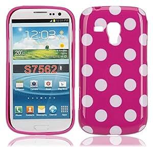 Polka Dots TPU Case for Samsung s7562 Purple White Dot