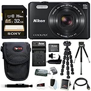 Nikon COOLPIX S7000 Camera (Black) with 32GB Kit
