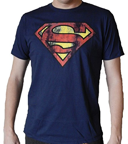 Bioworld Superman Logo Mens Navy T-shirt M (Superman T Shirt Emblem compare prices)
