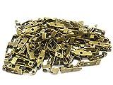 アンティーク 調 ブローチ ピン 100個 セット 15 20 25 30 mm アクセサリー 手芸 (15mm)