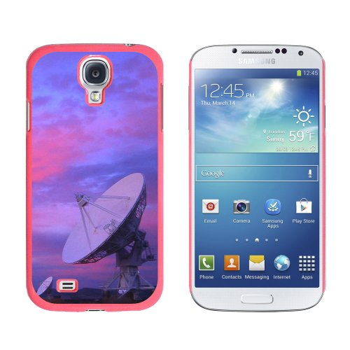 Graphics And More Very Large Array Vla Radar Telescope Dishes New Mexico At Sunset Snap-On Hard Protective Case For Samsung Galaxy S4 - Non-Retail Packaging - Pink