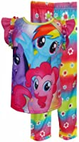 Little Girls 2-Piece Brightly Colored My Little Pony Pajama Set